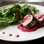 Pork Tenderloin with Peppercorn Blackberry Sauce
